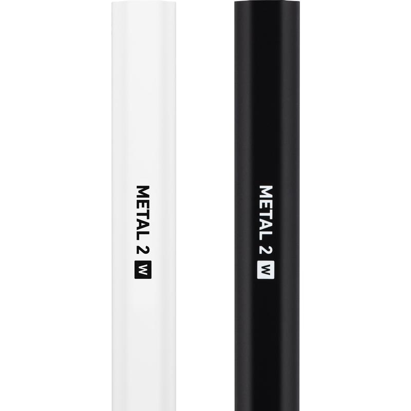 StringKing Women's Metal 2 W Lacrosse Shaft Black White
