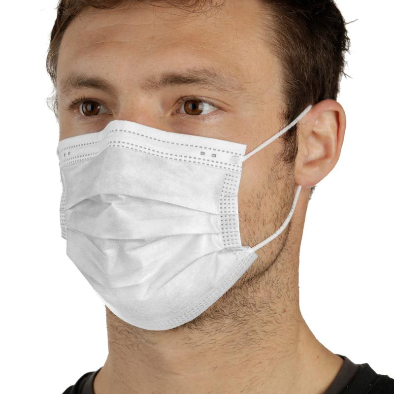 StringKing 3-Layer Disposable Face Mask PPE for protection.