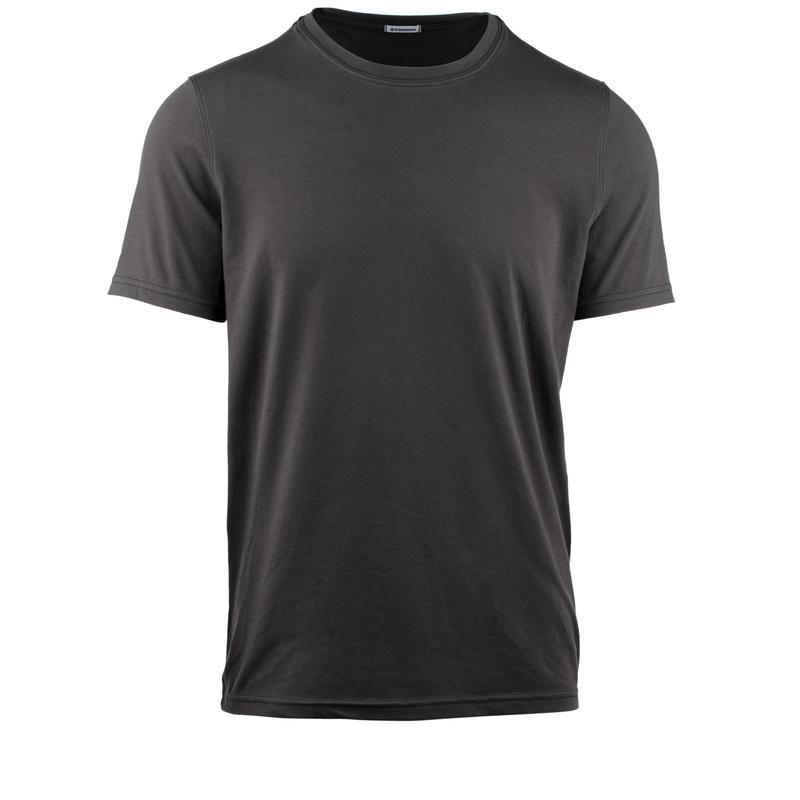 StringKing Apparel Casual T Shirt Light Black Gallery Image Front