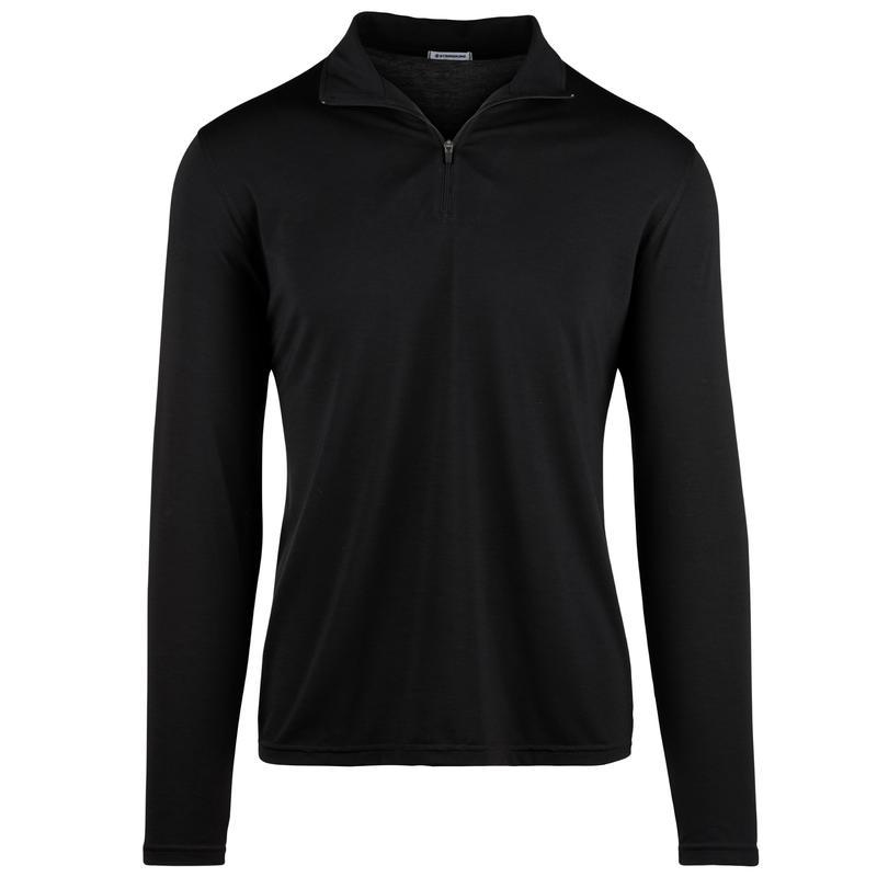 StringKing Apparel Quarter Zip Athletic Black Front Gallery Image