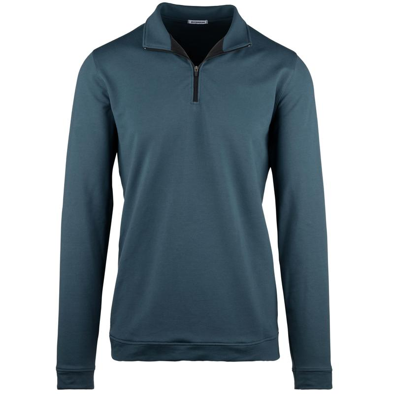 StringKing Apparel Quarter Zip Sweatshirt Light Navy Front gallery Image