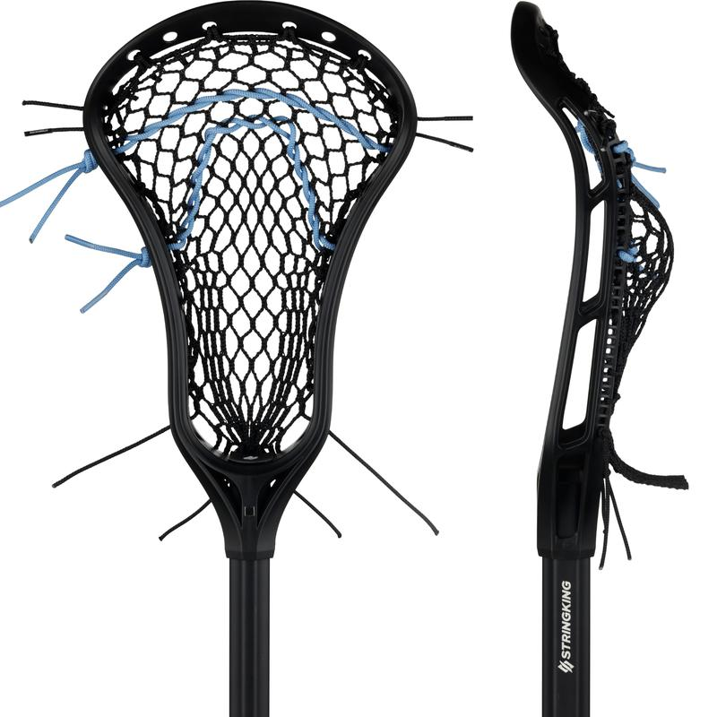 StringKing Women's Complete Lacrosse Stick Strung Face Pocket View Black Black