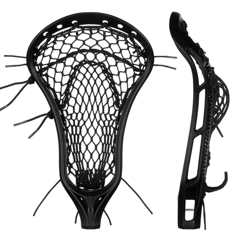 StringKing Women's Legend W Lacrosse Head Strung Face Pocket View Black Black