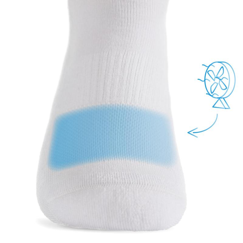 StringKing Athletic Crew Socks Breathability Premium Construction White