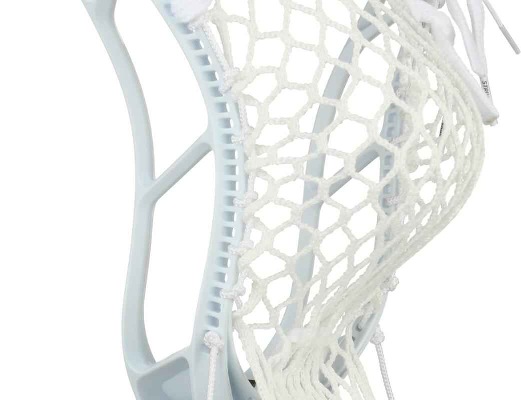 StringKing Complete 2 Junior Youth Lacrosse Stick Pocket Back Angle White Silver