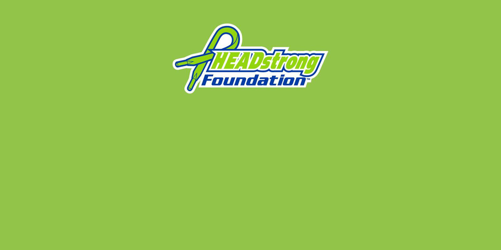 HEADstrong Logo Green Background