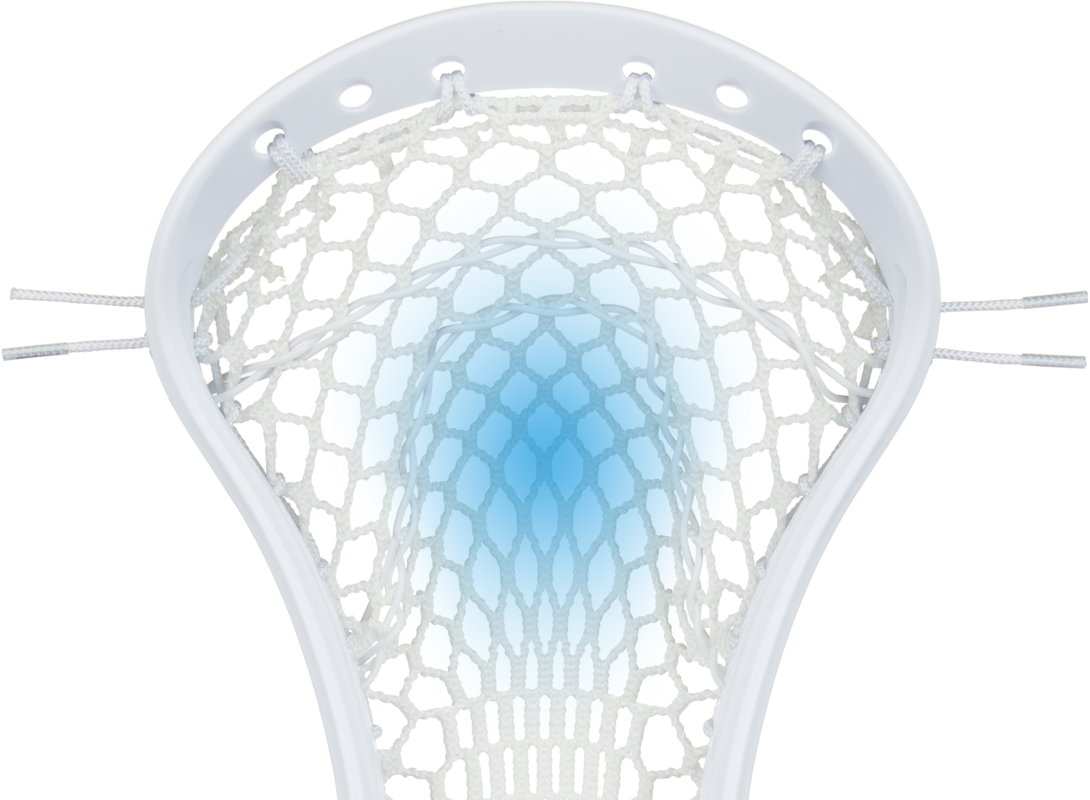 StringKing Women's Legend W Lacrosse Head Strung Pocket Placement Highlight White White
