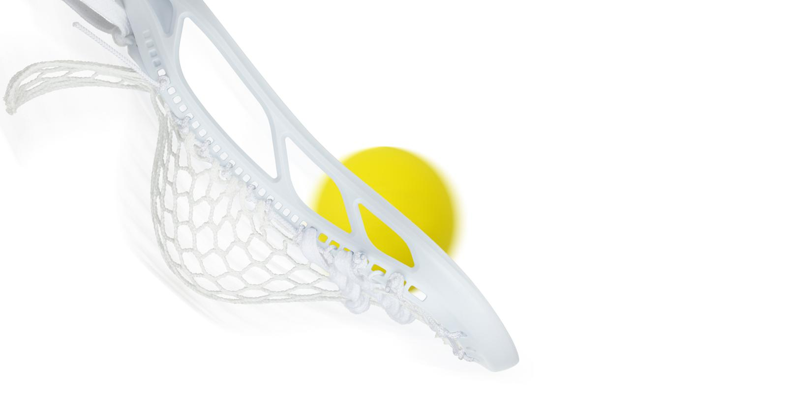 StringKing Mark 2F Lacrosse Head Feature Ground Ball Dominance White White Strung