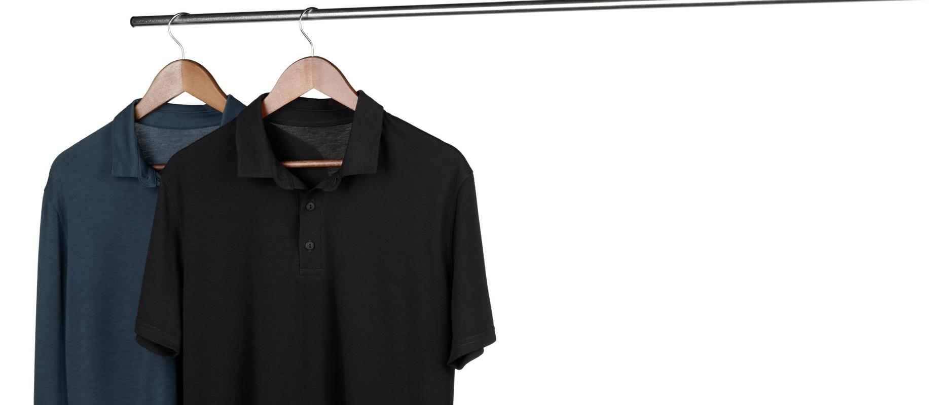 StringKing Apparel Athletic Polo Light Navy Black Feature
