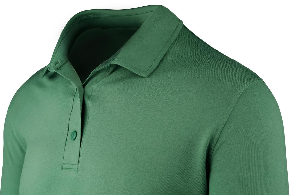 StringKing Apparel Athletic Polo Light Green Short Sleeve Angle Feature