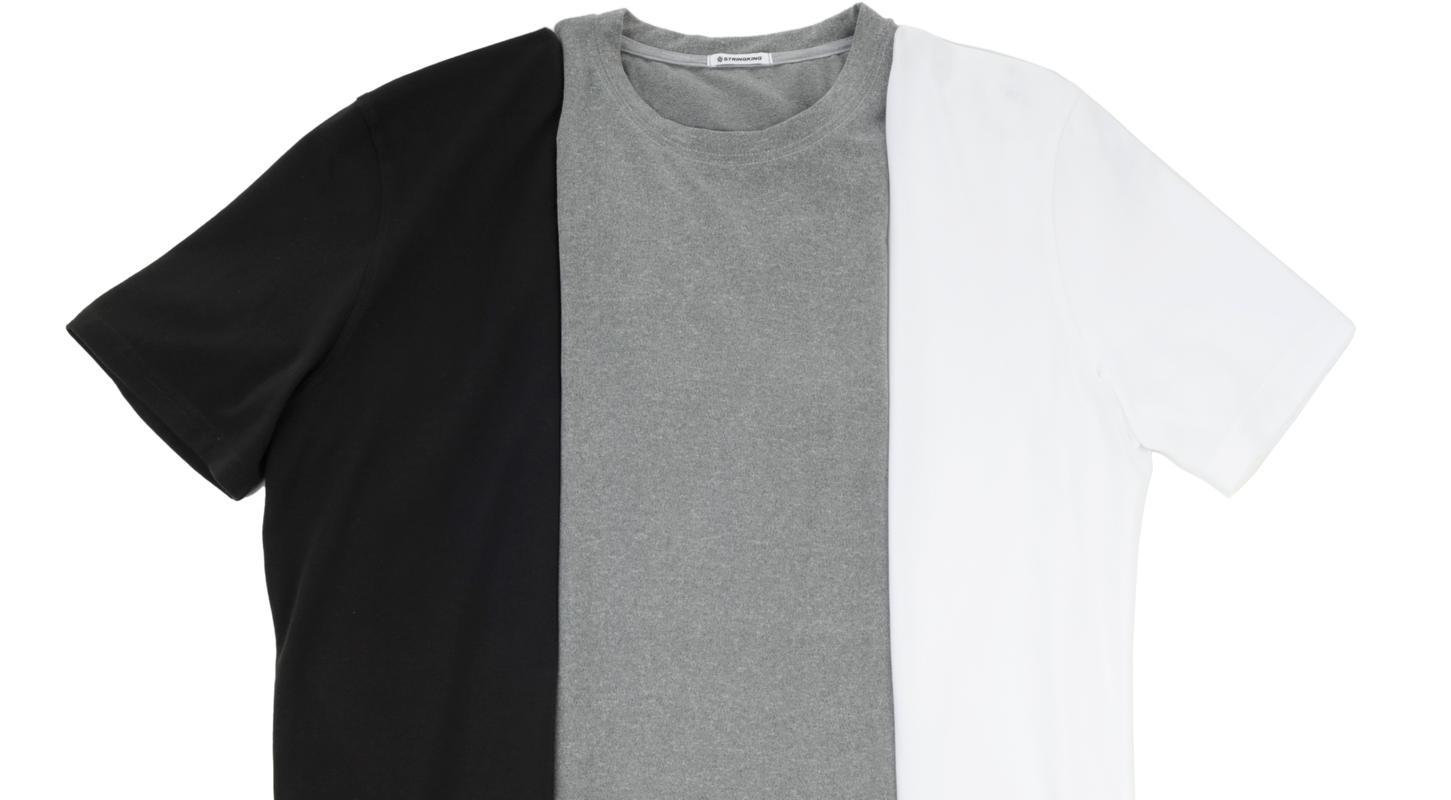 Custom Fit Apparel Clothing Black Gray White Tee Shirts