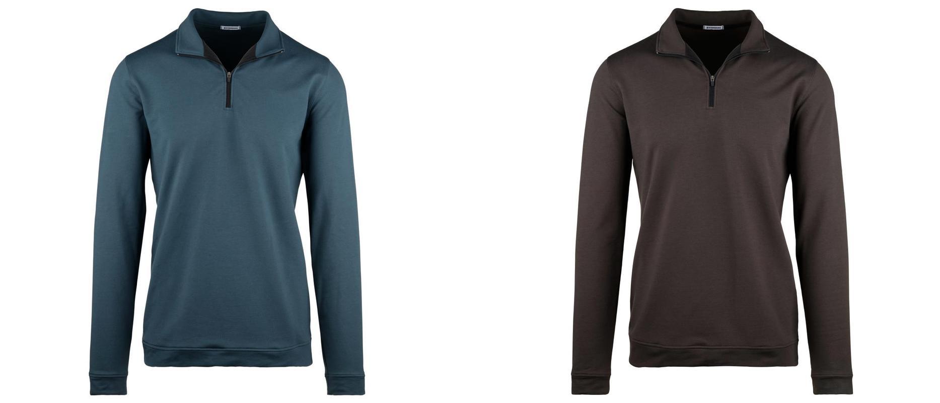 StringKing Apparel Outerwear Sweatshirt Quarter Zip Category Image Blue Black