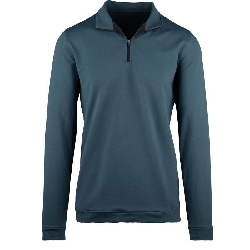 StringKing Apparel Quarter Zip Athletic 2 Light Navy Front View