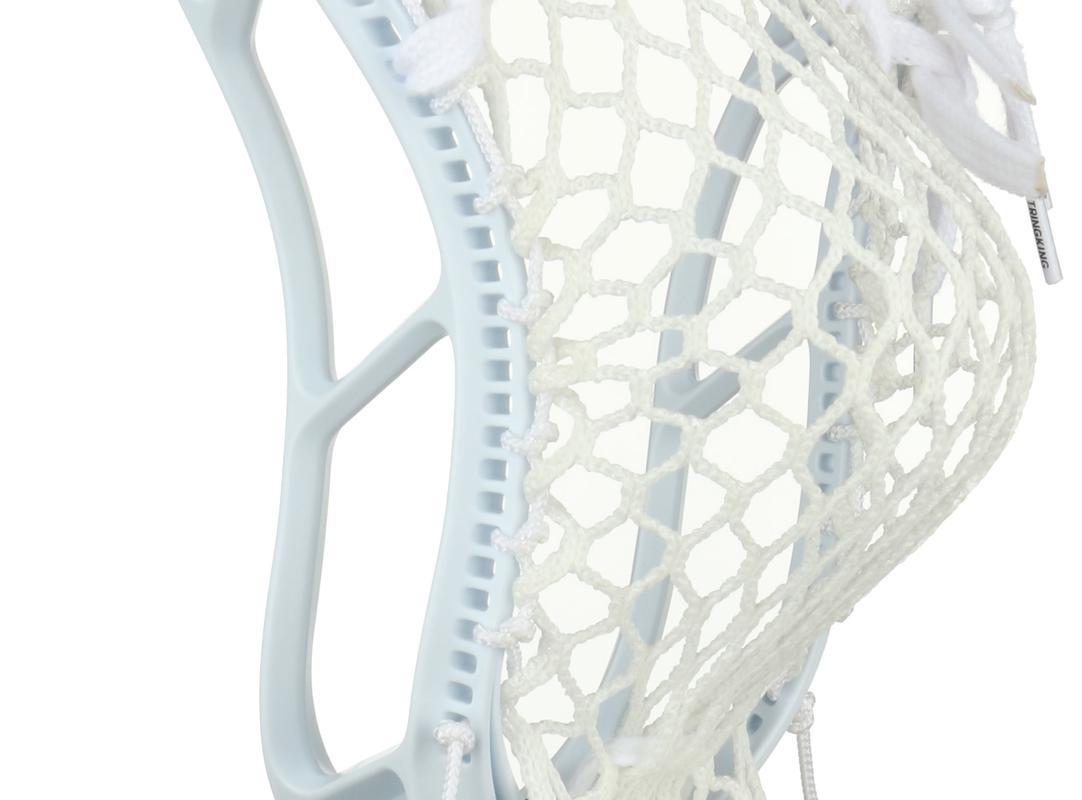 StringKing Complete 2 Senior Lacrosse Stick Pocket Back Angle Feature White White