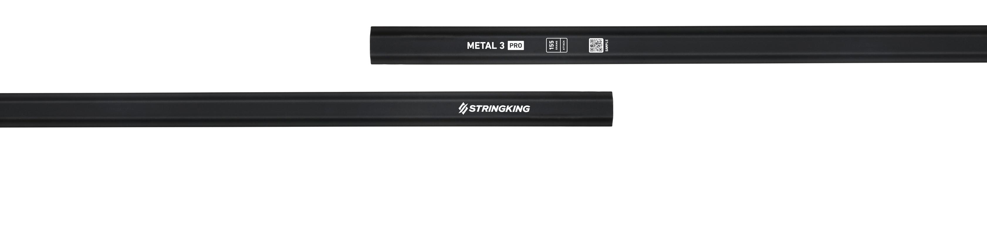 Metal 3 Pro Attack 155 Lacrosse Shaft Category Image Black Silver