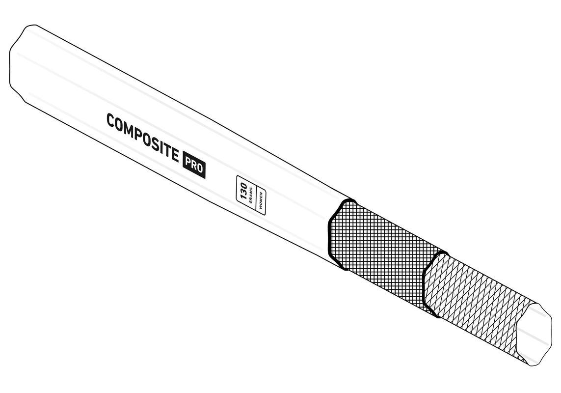 StringKing Women's Composite Pro Lacrosse Shaft Smart Taper
