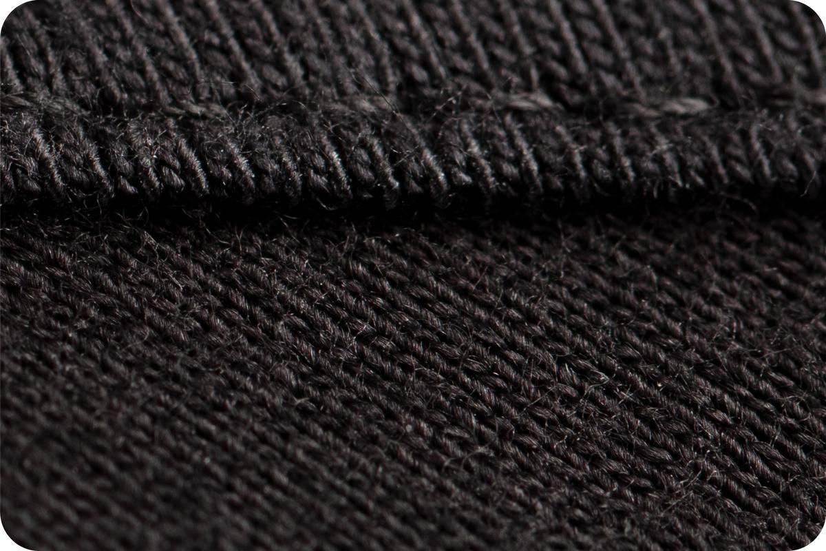 Washable Cloth Face Mask Black USA Made Fabric Close Up Stitching