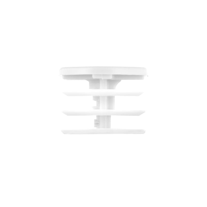 StringKing Men's Lacrosse Shaft End Cap Side View White